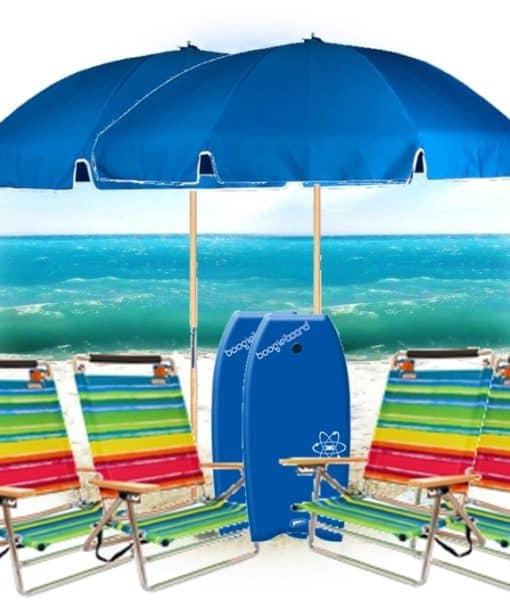 4 Easy Carry, 2 Umbrellas, 2 Boogie Boards