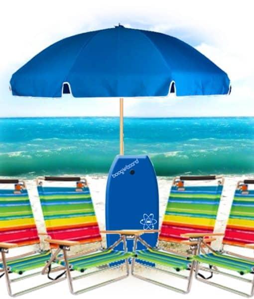 4 Easy Carry 1 Umbrellas 1 Boogie Boards